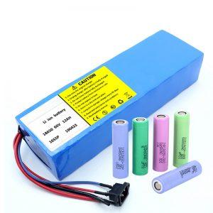 Batería de litio 18650 paquete recargable de iones de litio de 60V 12AH 12AH