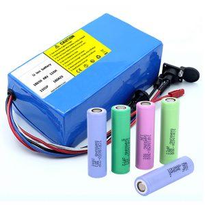 Batería de litio 18650 48V 12AH 48V 500W Batería eléctrica para bicicleta con BMS