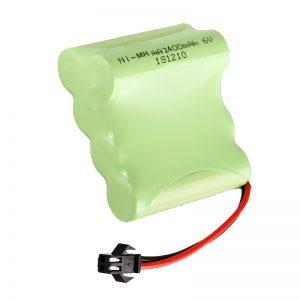 Batería recargable NiMH AA2400 6V Ferramentas recargables de xoguetes eléctricos Batería