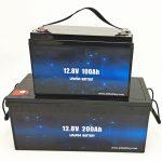 Batería solar LiFePO4 de ciclo profundo 12V 100Ah / 200Ah Carro de golf Batería de ión de litio