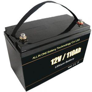 Batería de almacenamento solar de recambio de chumbo 12V 110Ah lifepo4 batería de litio