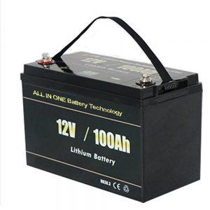 Batería de litio LiFePO4 Solar RV 12V 100ah máis segura
