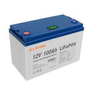 TODO EN VENDA Quente Enerxía Baterías de litio solares Software de almacenamento Control BMS Ciclo profundo recargable 12V 100Ah