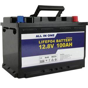 Batería de almacenamento de enerxía solar de substitución GEL / AGM Batería de ión de litio LifePo4 12v 100ah LifePo4