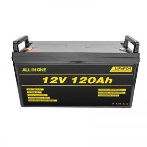 Batería de litio Lifepo4 BMS 12v 120ah Batería de ión de litio Lifepo4 12v