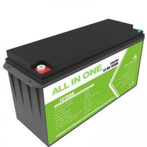 Batería de litio de gran capacidade 12,8 v 150ah para almacenamento solar doméstico