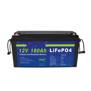 Batería de litio LiFePO4 12V 180Ah para sistemas de almacenamento de enerxía solar para bicicletas eléctricas