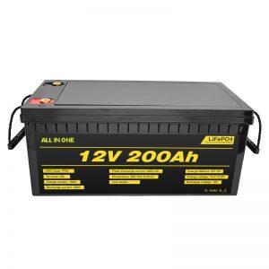 Coche eléctrico personalizable 12V Lifepo4 batería 12,8v 200ah con 2000 ciclo de vida lifepo4 batería