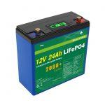 Solar Deep Cycle 24v 48v 24ah Lifepo4 batería UPS 12v 24ah batería