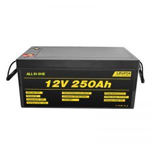 Batería de ión de litio LiFePO4 12V 250Ah máis popular do sistema solar máis popular