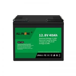 Paquete de baterías de ión de litio LiFePO4 de 12,8V 40Ah de recambio 12V 40Ah
