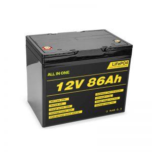 Lifepo4 12v 85ah batería recargable de ión de litio solar ciclo profundo