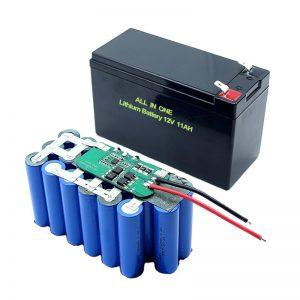 ALL IN ONE 18650 3S5P Batería de litio de 12 voltios Batería de litio recargable de 11 Ah