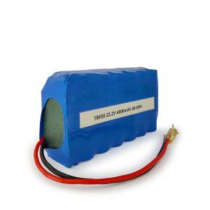 Batería li-ion ICR18650 personalizada 6S2P recargable 22,2 v 4000 mAh batería de ión de litio