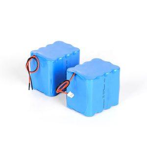 Batería de litio recargable personalizada 18650 paquete de baterías de ión li 3s4p 12v de alta descarga
