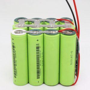 Batería de ciclo profundo 126 10AH de litio impermeable 18650 4s3p personalizado á venda por xunto para ferramenta eléctrica