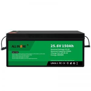 Paquete de baterías de ión de litio de 25,6 V 150Ah LiFePO4 de reposición de chumbo 24V 150Ah
