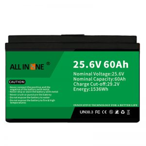 Batería LFP de seguridade / longa vida 25,6V 60Ah para caravana / caravana / UPS / carro de golf 24V 60Ah