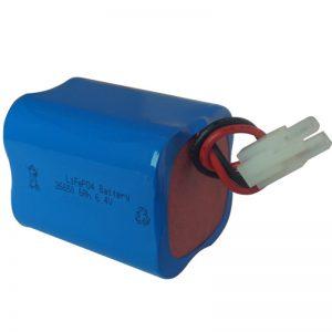 batería de luz solar lifepo4 6.4v 6ah 2S2P portátil