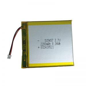 Baterías de litio de polímero de 3,7 V 2200 mAh para dispositivos domésticos intelixentes