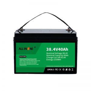 Batería de litio-fosfato de ferro de 8,4 V 40 Ah para VPP / SHS / Marina / Vehículo 36 V 40 Ah