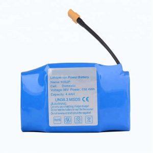 Batería de litio hoverboard 36v 4400mah 10s2p máis vendida