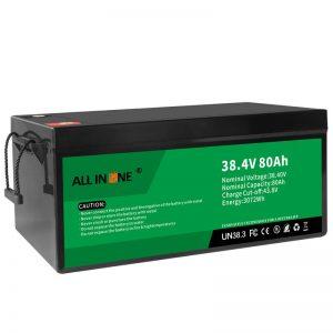 Paquete de baterías de ión de litio LiFePO4 de 38,4V 80Ah, 36V 80Ah