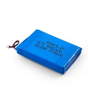 Batería de polímero de litio 3.7v / 7.4v 3000mah li 3.7v con 3000mah