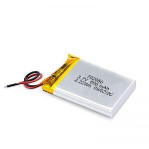 Paquete de baterías recargables de mini batería de litio de polímero de litio 3.7V 600Mah 650Mah por xunto de China para coche de xoguete