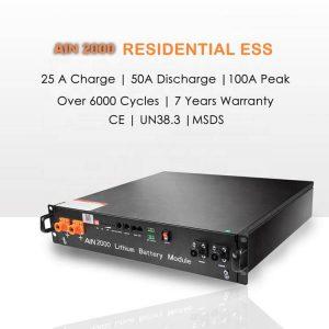 Paquete de baterías de litio para rede solar 48v 10kW de almacenamento de enerxía lifepo4 48v 50Ah 100Ah 200Ah