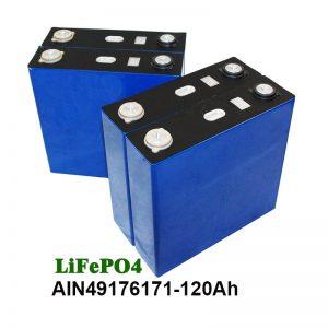 Batería prismática LiFePO4 3.2V 120AH para UPS de motores do sistema solar