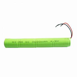 Batería recargable NiMH SC 3600mAH 4.8V