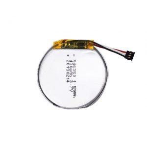Batería personalizada LiPO 46350 3.7V 350mAH batería de reloxo intelixente 46350 pequena batería de polímero de litio redondo para xoguetes